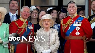 The monarch's birthday is actually in april, but celebrated annually during trooping color parade.#queenelizabeth #troopingthecolor #birthday