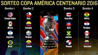 Así quedarón los Grupos, Sorteo Copa America Centenario 2016,