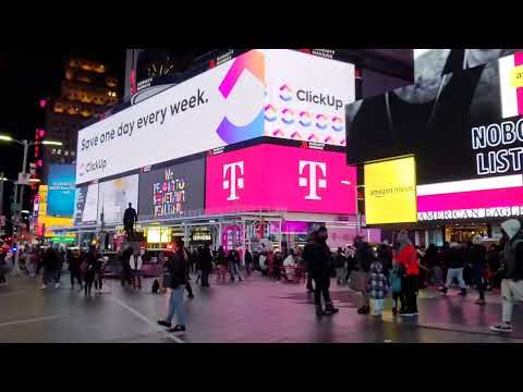 LIVE.TIME SQUARE NEW  YORK