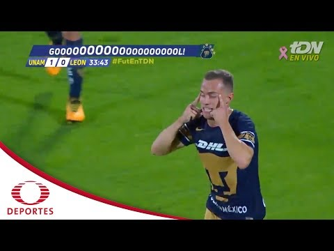 Gol de Abraham González   Pumas 1 - 0 León   Liga MX - J10   Televisa Deportes