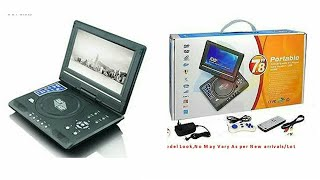 [Unboxing] portable evd/dvd player & AV IN/OUT, Audio Video, With TV Player, 7.8 inch 3D DVD player