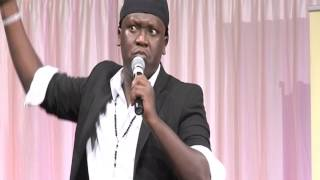 Salvador of the Crackers at the 2nd Ugandan Convention UK...Ombokolo joke