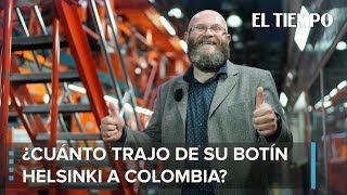 ¿Cuánto trajo de su botín Helsinki a Colombia?   EL TIEMPO