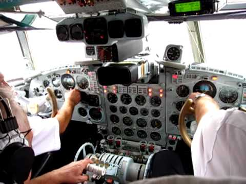 Tandem Aero Il-18D Cockpit - Engine Start-up Sequence & Taxi at Kiev Zhulyany (IEV), Ukraine