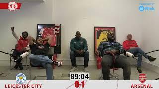 LEICESTER 0-2 ARSENAL | Goal Reaction To Nketiah Goal