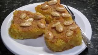 نموره او بسبوسه بدون جوز الهند ولا بيض Basboussa Without Coconut Youtube Arabic Dessert Lebanese Desserts Food