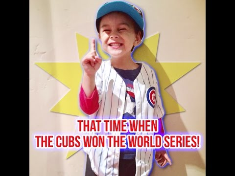 Vlog #5: That time when THE CUBS WON THE WORLD SERIES!!!