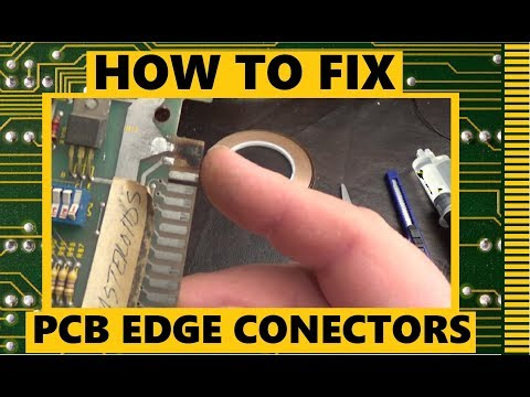 How to fix PCB edge connectors