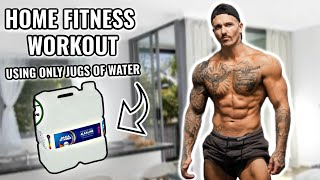 TRAINING IN QUARANTINE | Home Bodybuilding Workout Using Only Water Jugs