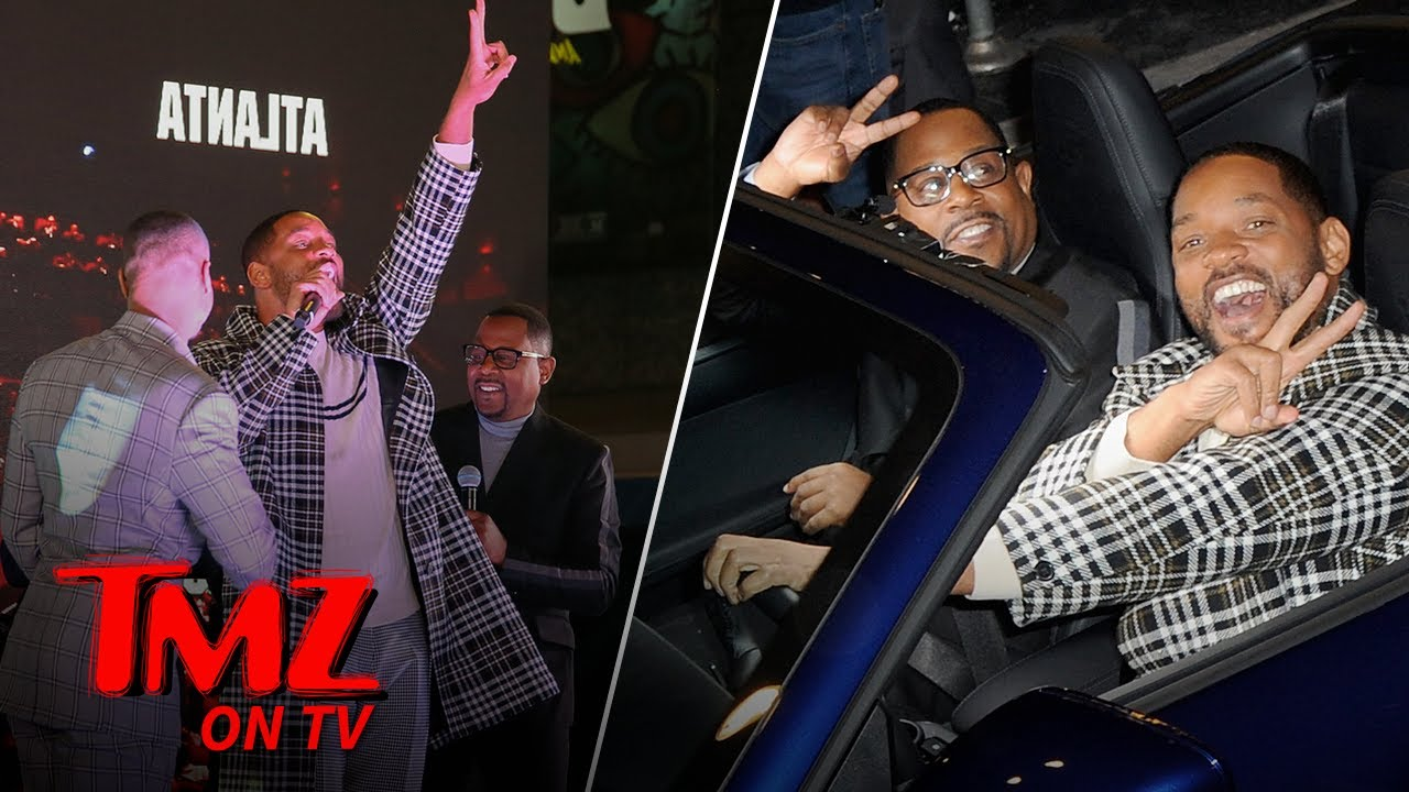 Will Smith & Martin Lawrence Arrive in Style for New 'Bad Boys' Premiere | TMZ TV