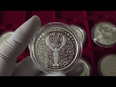 Серия серебряных монет Восточные Карибы.