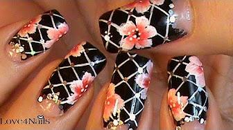 Como Pintar diseños de arte para las uñas a mano alzada ...