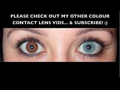 8b786bd3da3cd BROWN coloured CONTACT LENS  CooperVision Expressions Colors - YouTube