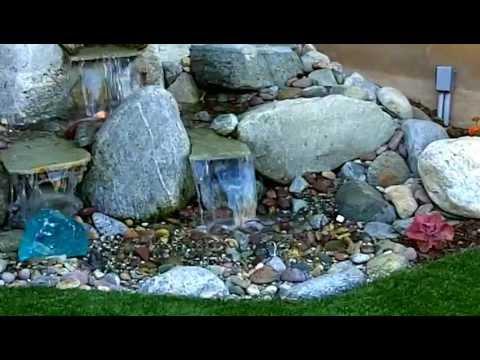 Small Backyard Waterfall Los Angeles | Enviroscape LA   YouTube