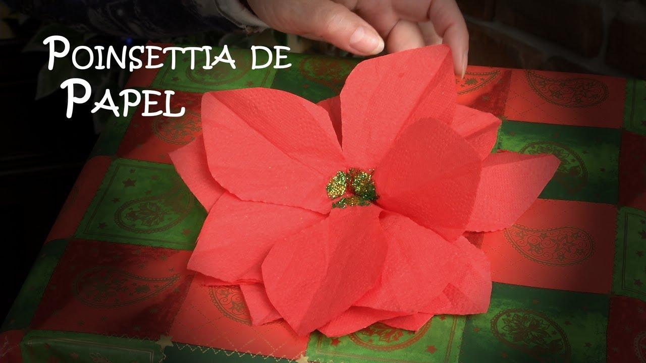Como Hacer Una Poinsettia Flor De Pascua O De Nochebuena De Papel