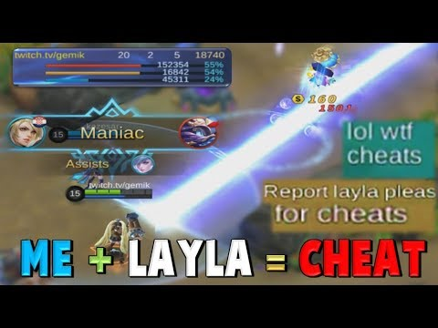 LAYLA CHEATER GAMEPLAY ! 3 VS 5 + TWO MANIAC + TRASHTALKERS ! Mobile Legends