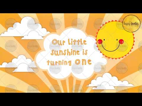 Birthday Party Invitation Video | You are my Sunshine Theme | Whatsapp Animated Invite