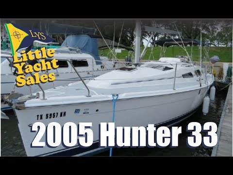 2005 Hunter 33 Sailboat for sale at Little Yacht Sales, Kemah Texas