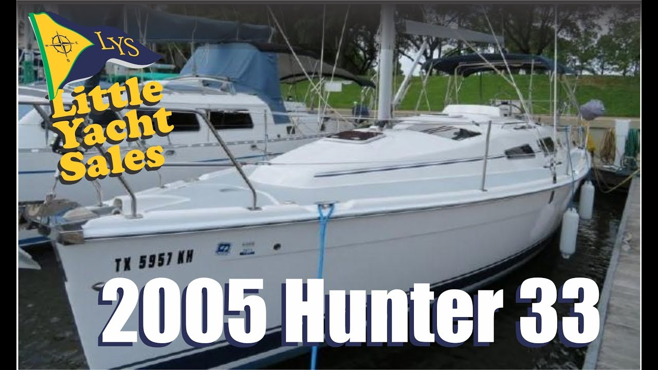 Sold 2005 Hunter 33 Sailboat For Sale At Little Yacht Sales Kemah Texas