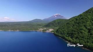DJI phantom 3 本栖湖 富士山 空撮