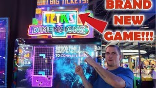 TETRIS DIMENSIONS & RING TOSS NEWEST GAMES AT DAVE AND BUSTERS!!