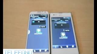 Samsung Note 2 contro Lg Optimus Vu II