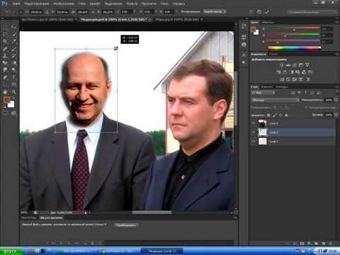 шаблоны в фотошоп Cs6 или как встретится с Медведевым