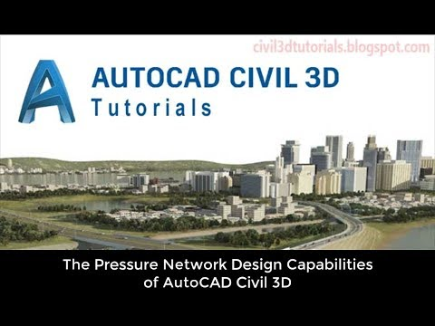 The Pressure Network Design Capabilities Of AutoCAD Civil 3D