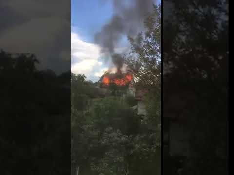 КУРС: В Угорниках від блискавки загрівся будинок