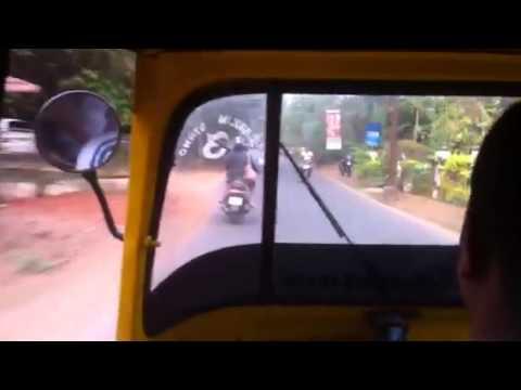 Tuk Tuk cab ride in Goa