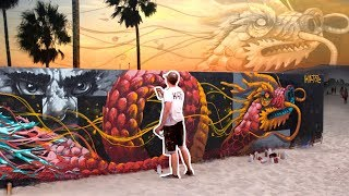HUGE DRAGON MURAL at VENICE BEACH