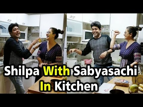 Shilpa Shinde With Sabyasachi In Kitchen At Her Home