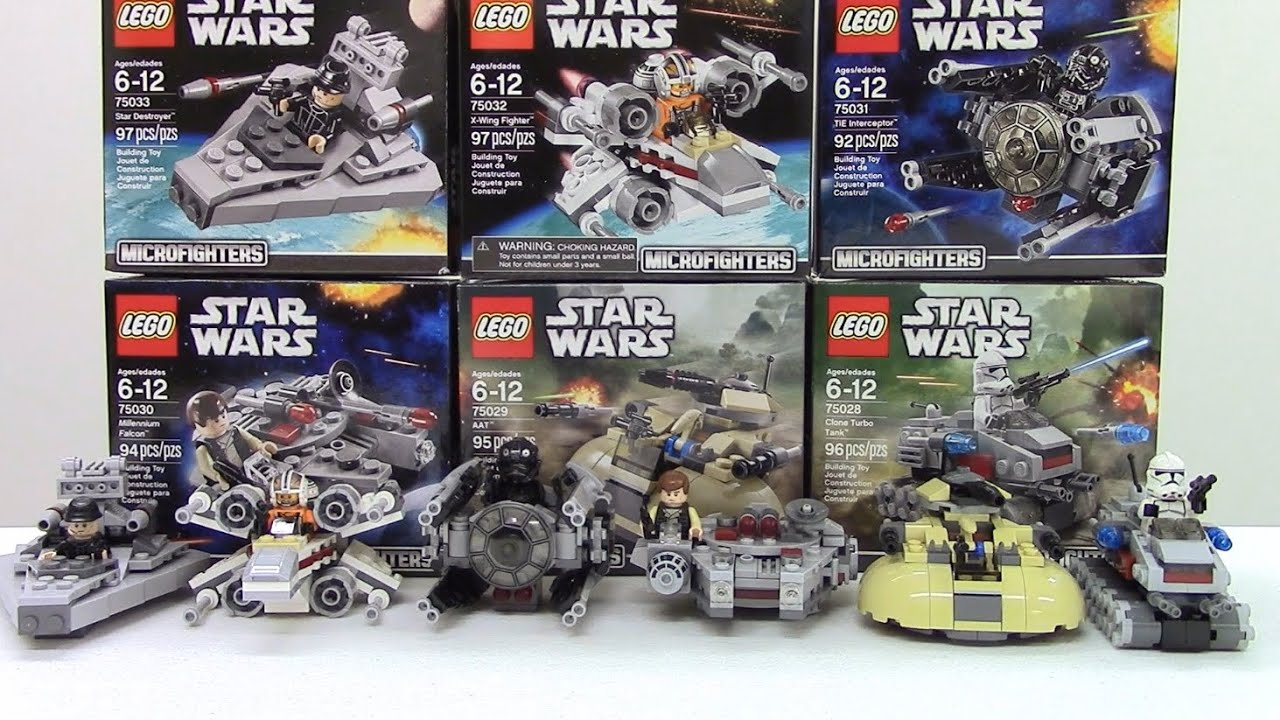 Lego starwars microfighter series 1 review all 6 sets - Lego star wars 1 2 3 4 5 6 ...