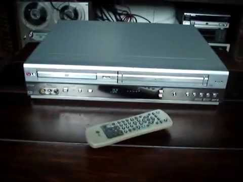 Dc 596b Lg Vcr Dvd Player Combo Vdeo Demo Youtube