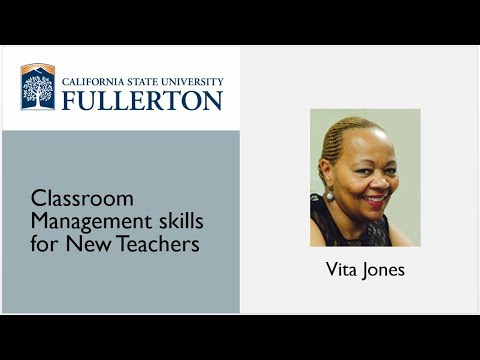 Webinar: Classroom Management Skills for New Teachers by Vita Jones