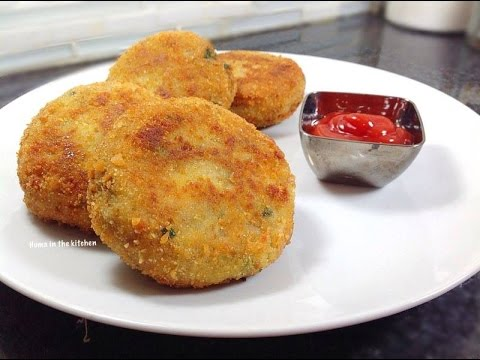 Homemade Crispy Chicken Potato Cutlets Recipe - How To Make Cutlets Easy By (HUMA IN THE KITCHEN)