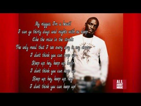 Akon - Keep Up (Lyrics)