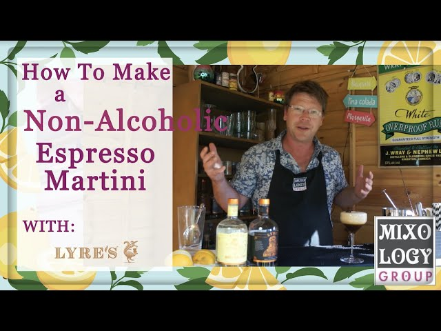 How to make a Non - Alcoholic Espresso Martini🍸