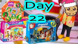 Polly Pocket, Playmobil Holiday Christmas Advent Calendar Day 22 Toy Surprise Opening Video