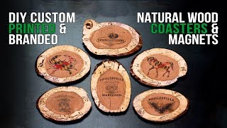 Printed & Branded Wood Coasters & Magnets   Make & Customize at Home