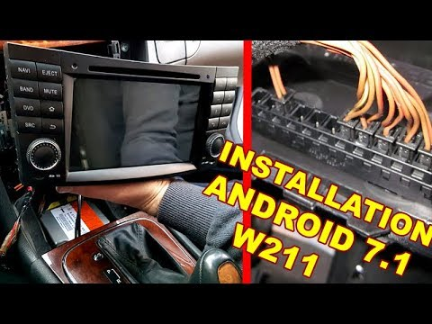 Detailed Installation Android 7.1 Radio DVD COMAND & CANBUS (Wheel buttons) & Decoder Mercedes W211