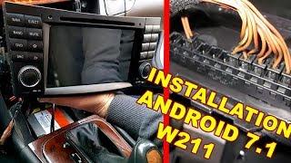 Мерседес W211 детальна установка Андроїд 7.1, Радіо, DVD-системою COMAND & CAN шини (кнопки на кермо) & дешифратор