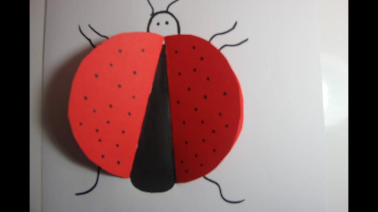 how to make an origami ladybug youtube