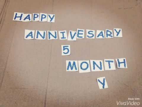 Happy Anniversary 5 Month Dill Youtube