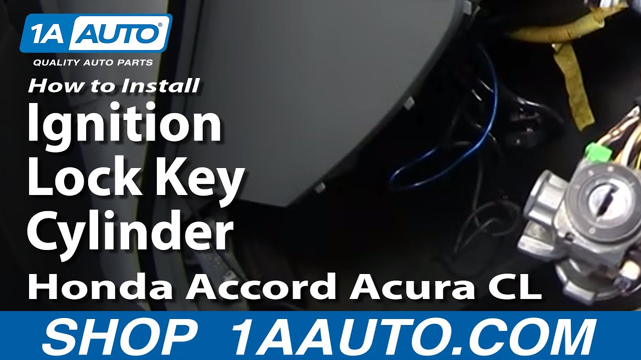 How To Install Replace Ignition Lock Key Cylinder Honda Accord Acura ...