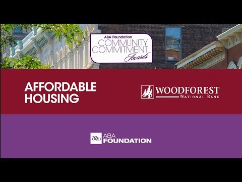 2017 ABA Community Commitment Award: Affordable Housing