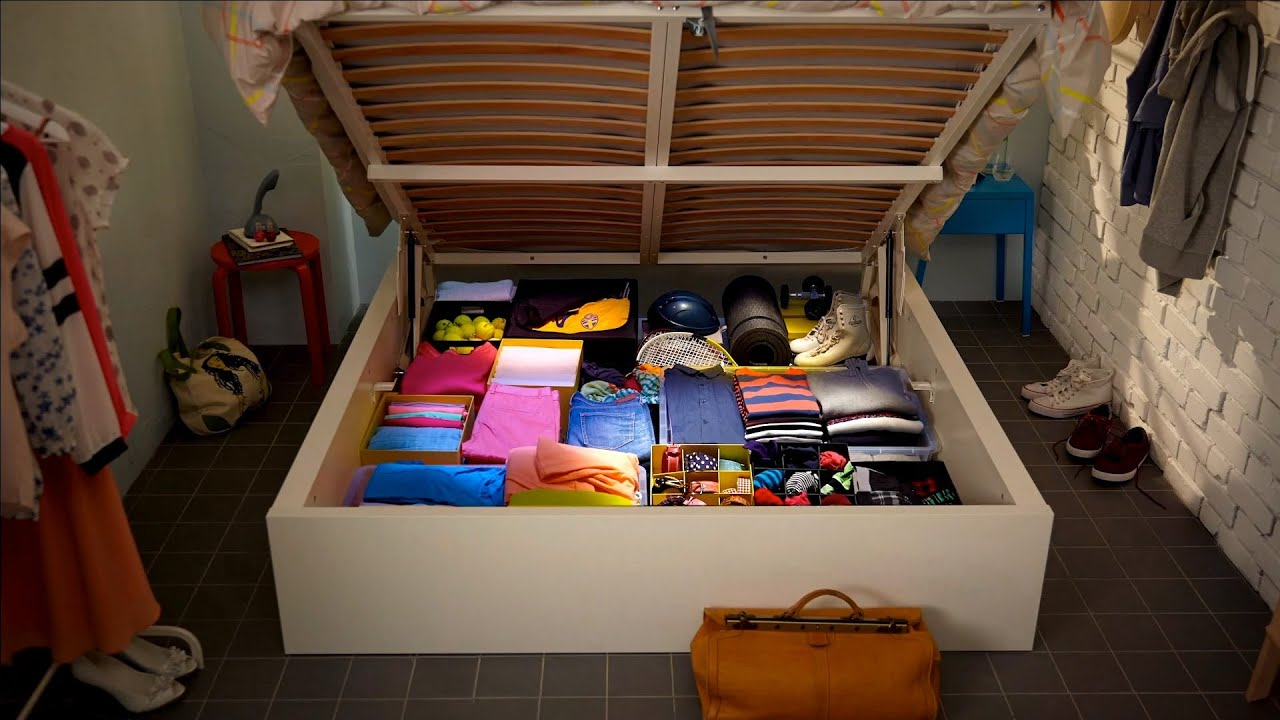 ikea hidden storage works wonders on small rooms youtube rh youtube com clever storage ideas for small rooms clever storage ideas for small rooms