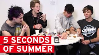 5 Seconds of Summer tuck into some English food...it didn