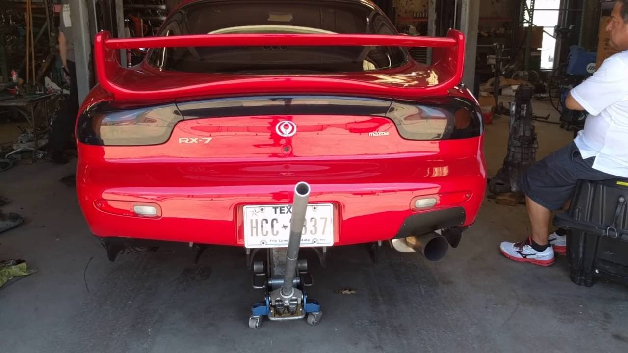 Mazda RX7 Straight Pipe Idle/ Exhaust Check by Tokyo In Texas