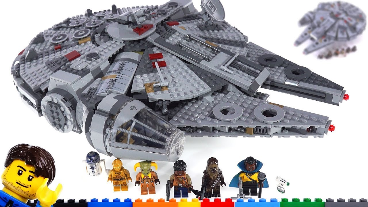 Lego Star Wars 2019 Millennium Falcon Quick Review Comparison More 75257 Youtube